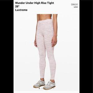 """Lululemon Wunder Under High Rise Tight 28"""" size 12"""